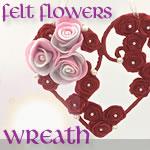 フェルトの花で作る「ハート型リース」♪作り方の手順を写真付きで!
