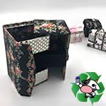 【牛乳パック】小物入れ(3段)の作り方!左右に開くマジックBOX