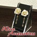 【マニキュアフラワー】イヤリングの作り方!バラの花のアクセサリー