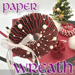 紙を編んで作るリースの作り方!手順がわかれば超簡単で低コスト♪