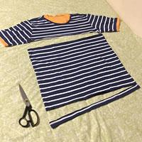 ダイソー「Tシャツヤーン」の長さは?「Tシャツヤーンの作り方 A」1