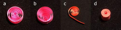 ペーパークイリングの作り方「4種類の基本パターン」