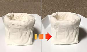 100均の紙粘土で作る「手作り鉢の作り方」手順 5