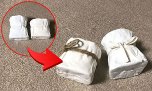100均の紙粘土で作る「手作り鉢の作り方」手順 6