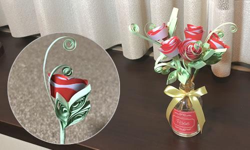 ペーパークイリングの作り方!型紙で簡単♪花のアロマディフューザー