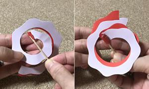 ペーパークイリングで手作り♪「花のアロマディフューザーの簡単な作り方」手順 2