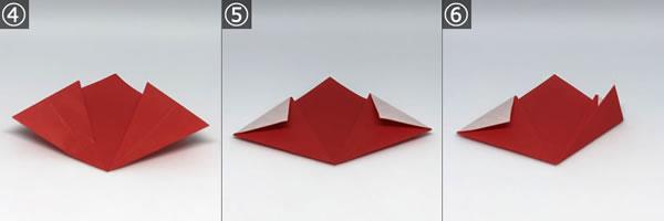 折り紙で作る♪立体の花「桜」の折り方!【手順 2】
