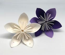 折り紙で作る♪立体の花「桃」の折り方!