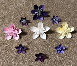 折り紙で作る立体の花の折り方「アレンジ」