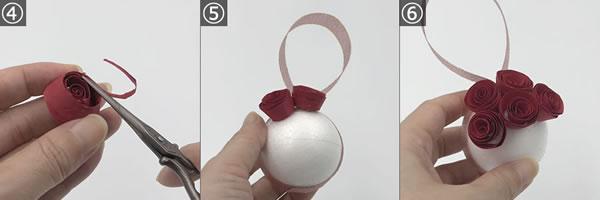 簡単手作り「クリスマス飾り」バラの花の取り付け手順とポイント 2