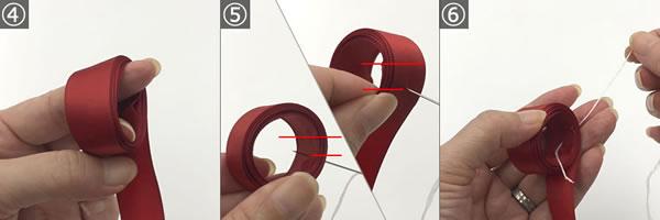 簡単にできるラッピングに最適なリボン「スターボウ」の作り方手順 4~6