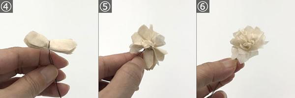 「ペーパーフラワー」の作り方手順4~6