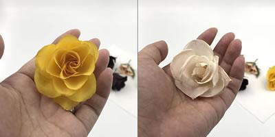 シリカゲルでバラの花をドライフラワーに!「自然放置」での作り方 手順4~完成!