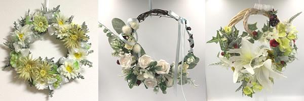 リースの手作り材料「100均造花の選び方」完成作品