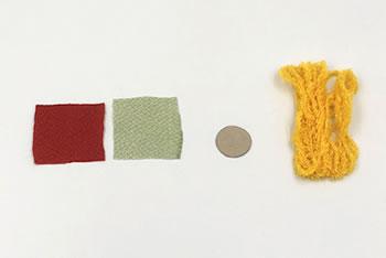ちりめんで作るつまみ細工「椿」の作り方(材料)