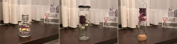 バラのドライフラワーの飾り方「ボトル瓶に飾る!」
