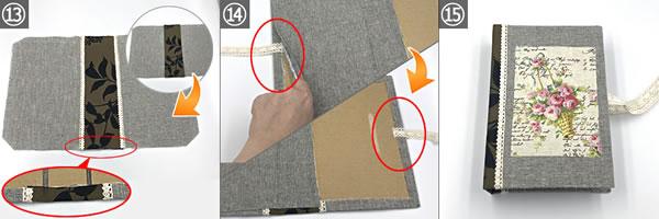 牛乳パックで手作り♪「ブック型収納ボックス」の作り方手順13~15
