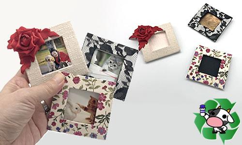「写真立て」を簡単手作り♪紙(牛乳パック)で作る方法はコレ!