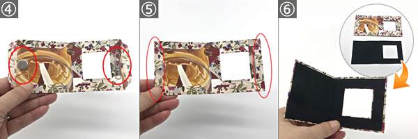 牛乳パックで簡単手作り♪「写真立ての作り方」手順4~6