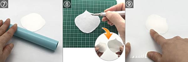 樹脂粘土で作る「カラーの花」の作り方 手順7~9