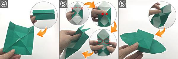 折り紙で作る「紫陽花」の立体的な折り方!紫陽花の土台の作り方 手順4~6