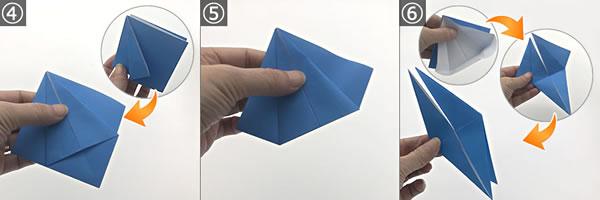 折り紙で作る「紫陽花」の立体的な折り方!紫陽花の花の作り方 手順4~6