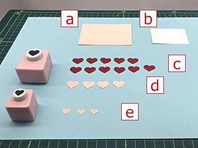 クラフトパンチの花で作るメッセージカードの作り方「必要な用紙のサイズ」