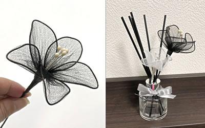 ワイヤーで作る花の簡単な作り方「バリエーション 1」