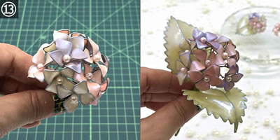 【マニキュアフラワー】紫陽花(あじさい)の花の作り方!手順「完成」