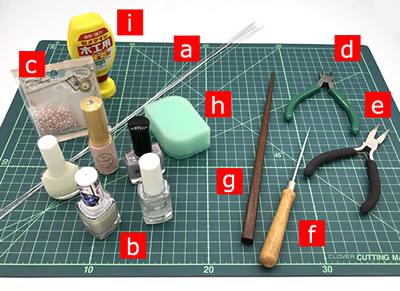 【マニキュアフラワー】紫陽花(あじさい)の花の作り方!「必要な材料・道具類」
