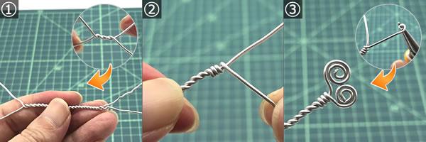 【ハンドメイドアクセサリー】ワイヤーで作る指輪の作り方!手順1~3
