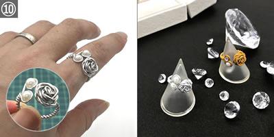 【ハンドメイドアクセサリー】ワイヤーで作る指輪の作り方!「完成」