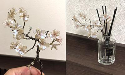【マニキュアフラワー】桜の花の作り方!「インテリア用にアレンジ」