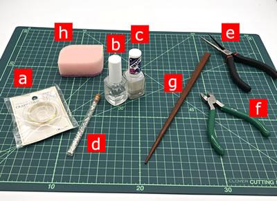 【マニキュアフラワー】桜の花の作り方!「必要な材料・道具類」