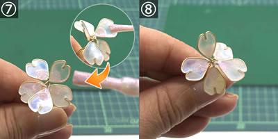【マニキュアフラワー】桜の花の作り方(花びら)!手順7~8