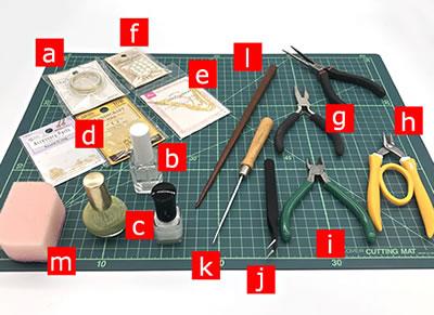 マニキュアフラワーで手作り♪ピアスの作り方!「必要な材料・道具類」
