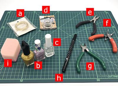マニキュアフラワーで手作り♪コスモスの作り方!「必要な材料・道具類」
