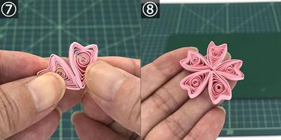 ペーパークイリングで手作り♪桜の花の作り方!手順7~完成