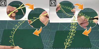 ペーパークイリングに合う「葉っぱ」の簡単な作り方!手順4~5