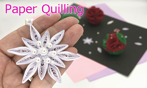 クリスマスの飾りをペーパークラフトで手作り♪「雪の結晶」の作り方