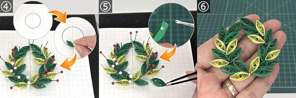 クリスマスのペーパーオーナメントの作り方!手順4~6