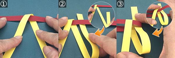 紙を編んで作るリースの作り方!手順1~3
