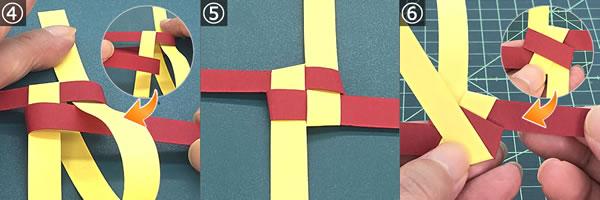 紙を編んで作るリースの作り方!手順4~6