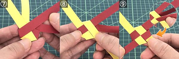 紙を編んで作るリースの作り方!手順7~9