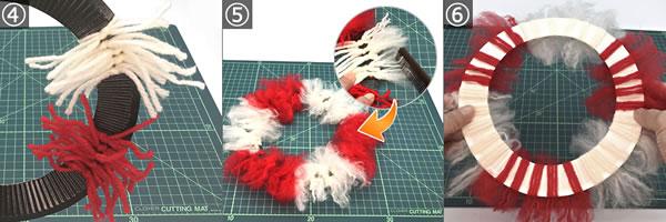子どもでも簡単に作れる手作りリースの作り方!手順4~6