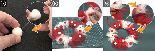 子どもでも簡単に作れる手作りリースの作り方!手順7~9