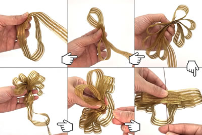 簡単手作りポンポンリースの作り方!「装飾リボンの作り方」