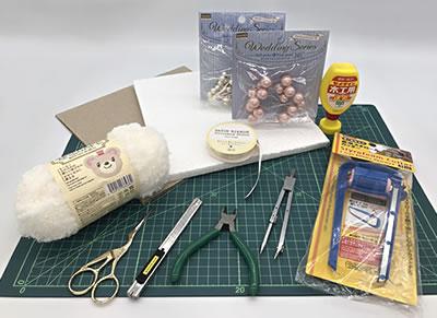 毛糸リース(土台もハンドメイド)の作り方!「必要な材料・道具類」