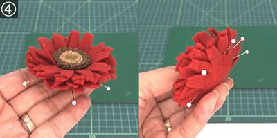フェルトで手作り♪ガーベラの作り方「花びら」!手順4