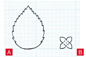 フェルトで作るアジサイの花の作り方「型紙」